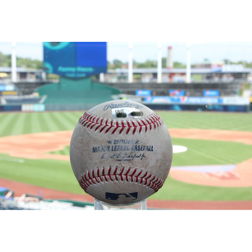 Photo of Game-Used Nicholas Castellanos Single (7/17/17 DET at KC)