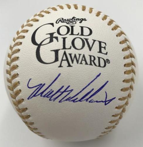Photo of Matt Williams Autographed Gold Glove Baseball