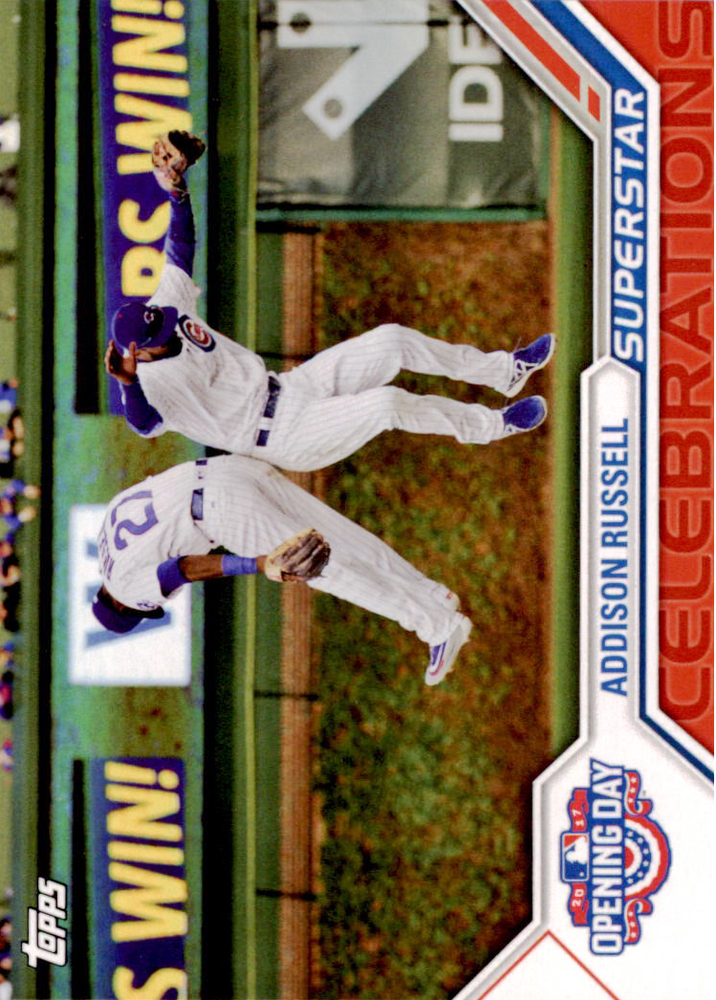 2017 Topps Opening Day Superstar Celebrations #SC12 Addison Russell -- NLCS roster