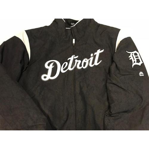 Team-Issued Justin Verlander Home Bench Jacket