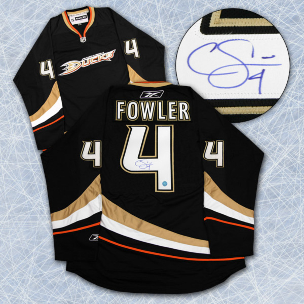 CAM FOWLER Anaheim Ducks SIGNED NHL Premier Rookie Jersey *Size Small*
