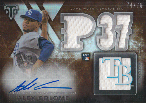 Photo of 2015 Topps Triple Threads Sepia #168 Alex Colome JSY AU