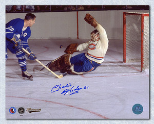 CHARLIE HODGE Montreal Canadiens SIGNED 8x10 Photo
