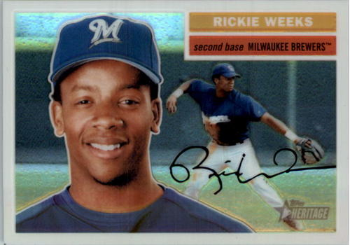 Photo of 2005 Topps Heritage Chrome Refractors #THC101 Rickie Weeks