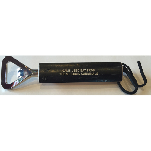 Photo of Cardinals Authentics: St. Louis Cardinals Game-Used Bat Bottle Opener