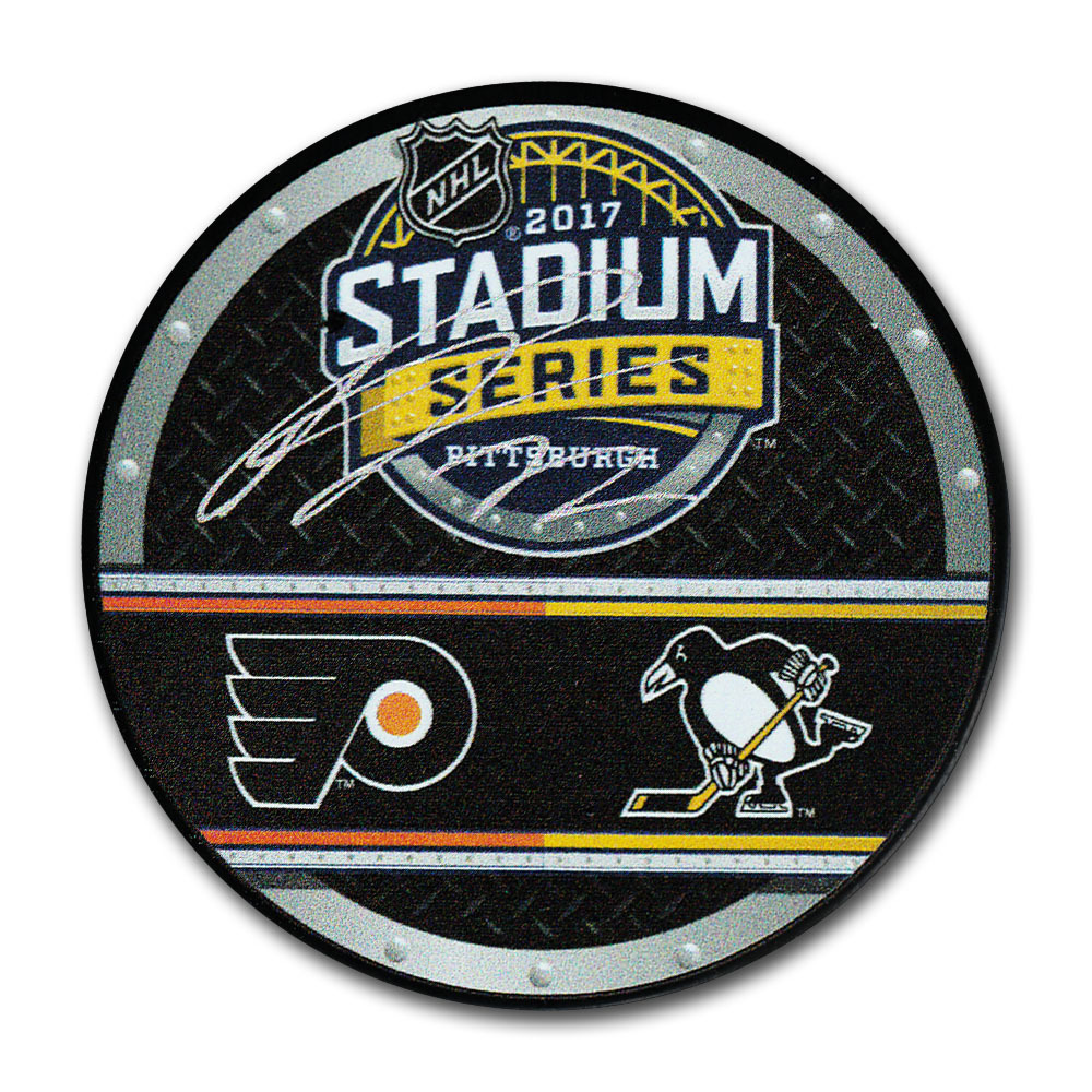 Patric Hornqvist Autographed 2017 NHL Stadium Series Dueling Puck