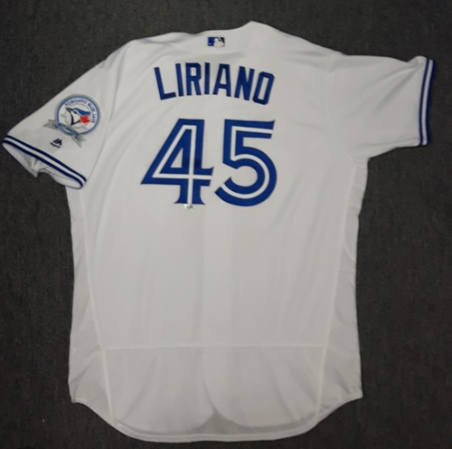 Photo of Authenticated Game Used Jersey - #45 Francisco Liriano (July 29, 2016)
