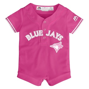 Toronto Blue Jays Newborn/Infant Jersey Romper Pink by Majestic