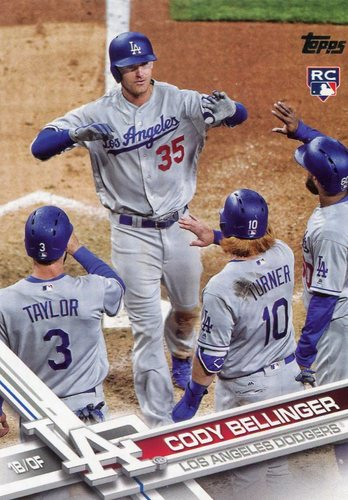 Photo of 2017 Topps Update #US50B Cody Bellinger SP/crossing home plate