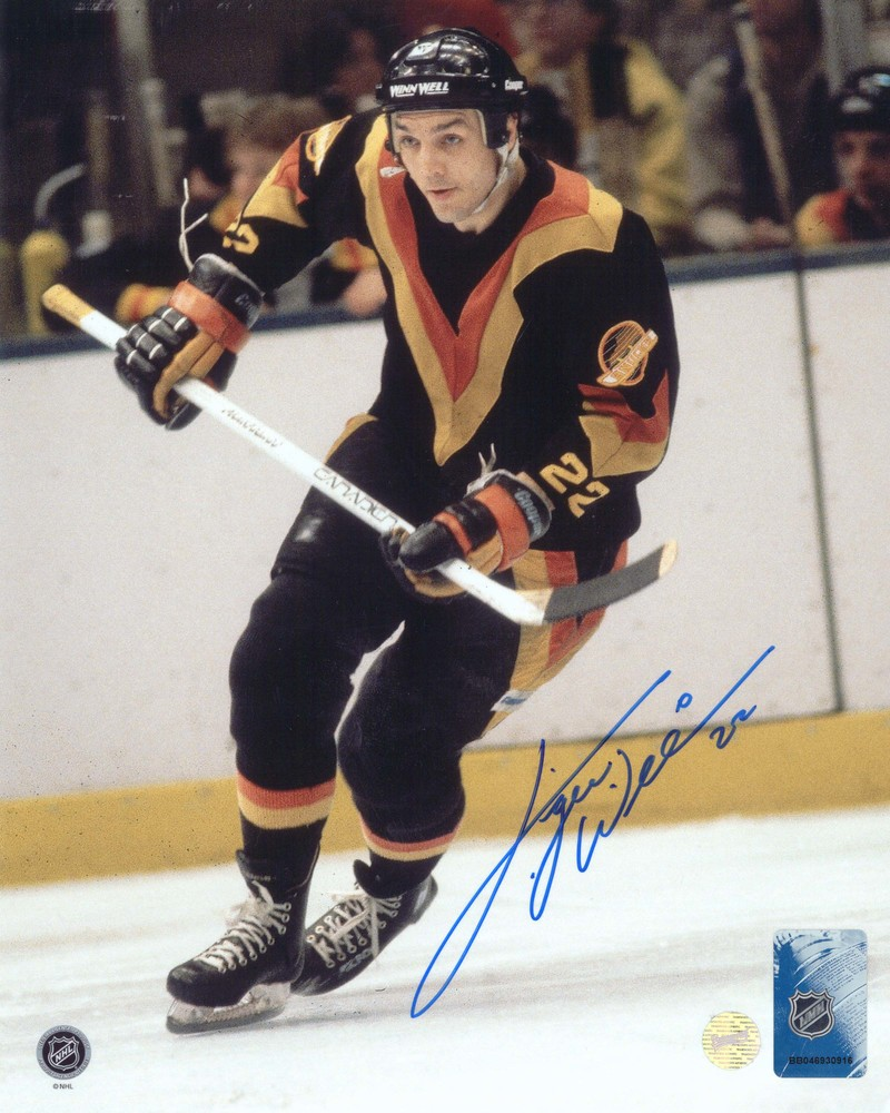 Tiger Williams - Signed 8x10 Unframed Vancouver Canucks Dark-V