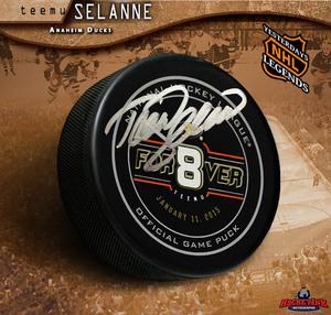 TEEMU SELANNE Signed Anaheim Ducks