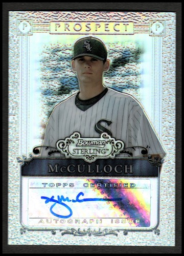 Photo of 2006 Bowman Sterling Prospects Refractors #KM Kyle McCulloch AU