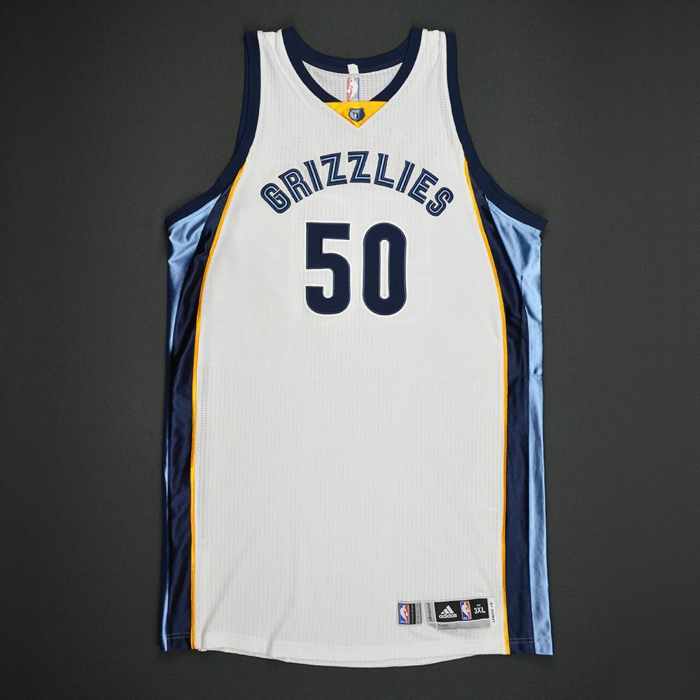Zach Randolph - Memphis Grizzlies - Game-Worn Regular Season Jersey - 2014-15 Season