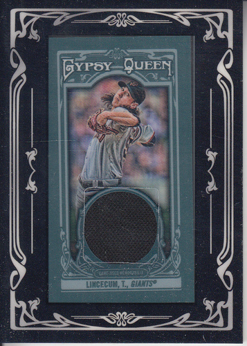 Photo of 2013 Topps Gypsy Queen Framed Mini Relics #TL Tim Lincecum