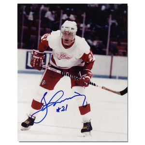 Börje Salming Autographed Detroit Red Wings 8x10 Photo