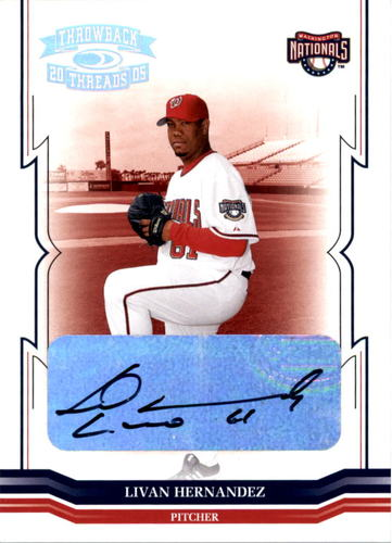 Photo of 2005 Throwback Threads Signature Marks #234 Livan Hernandez/25