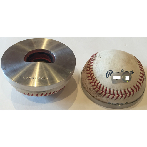 Photo of Cardinals Authentics: St. Louis Cardinals Game-Used Baseball Bottle Opener