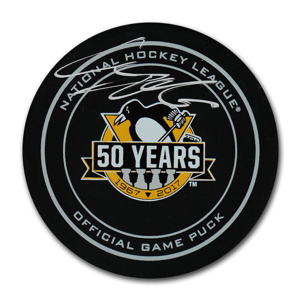 Carl Hagelin Autographed Pittsburgh Penguins 50th Anniversary Official Game Puck
