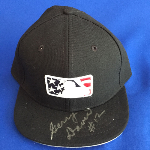 Photo of UMPS CARE AUCTION: Gerry Davis Signed Stars and Stripes Hat Size 7 1/8