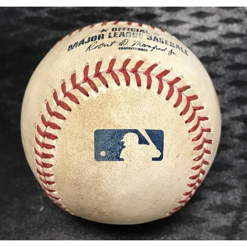 Photo of Game-Used Baseball - Jose Abreu Double & Todd Frazier At Bat vs. Randall Delgado