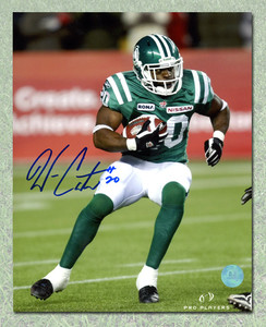Wes Cates Saskatchewan Roughriders Autographed CFL Football 8x10 Photo