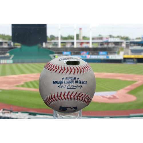 Photo of Game-Used Elvis Andrus Double (7/16/17 TEX at KC)