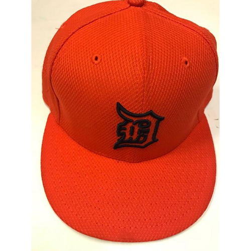 Team-Issued Justin Verlander 2016 Orange Cap