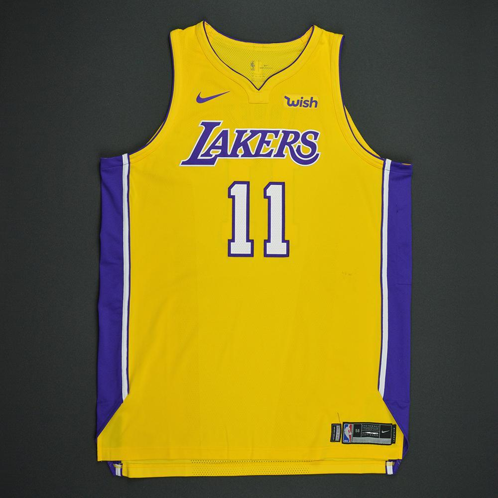 Brook Lopez - Los Angeles Lakers - Kia NBA Tip-Off 2017 - Game-Worn Jersey - Worn in 3 Games - Double-Double