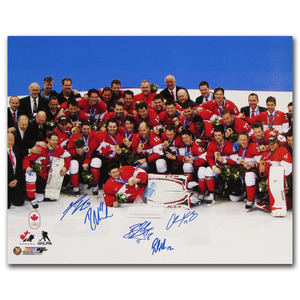 2014 Team Canada Multi-Signed 16X20 Photo - Five Signatures