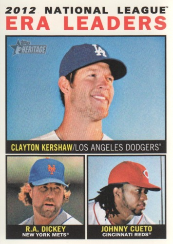 Photo of 2013 Topps Heritage #1 Clayton Kershaw/R.A. Dickey/Johnny Cueto