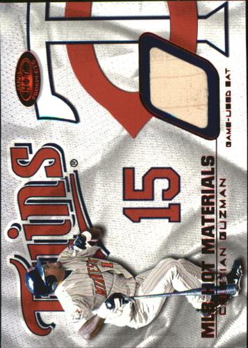 Photo of 2002 Hot Prospects MLB Red Hot Materials #CG Cristian Guzman Bat