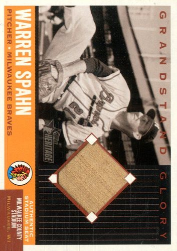 Photo of 2002 Topps Heritage Grandstand Glory #GGWS Warren Spahn D