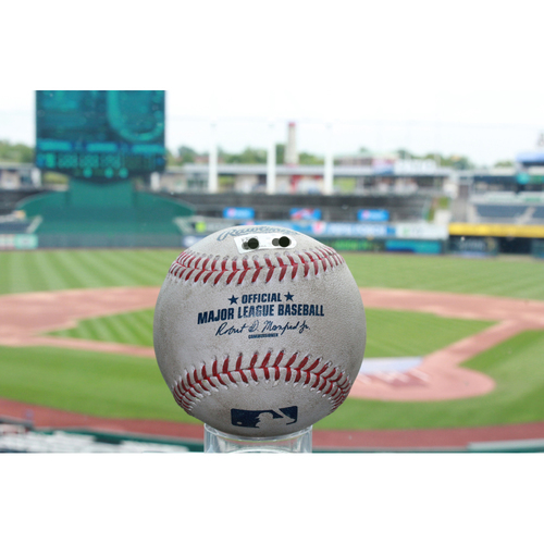 Photo of Game-Used Carlos Gomez Single (7/15/17 TEX at KC)