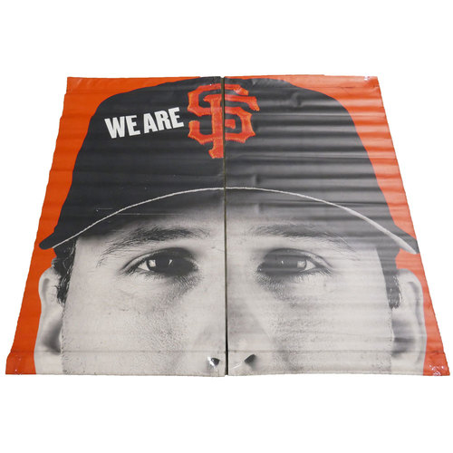 Photo of San Francisco Giants - 2016 Vinyl Street Banner - Buster Posey