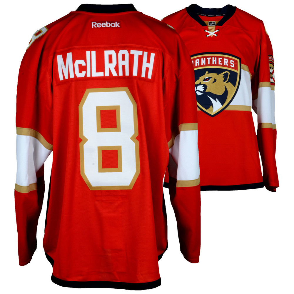 Dylan McIlrath Florida Panthers Player-Issued #8 Red Jersey From The 2016-17 NHL Season - Size 58