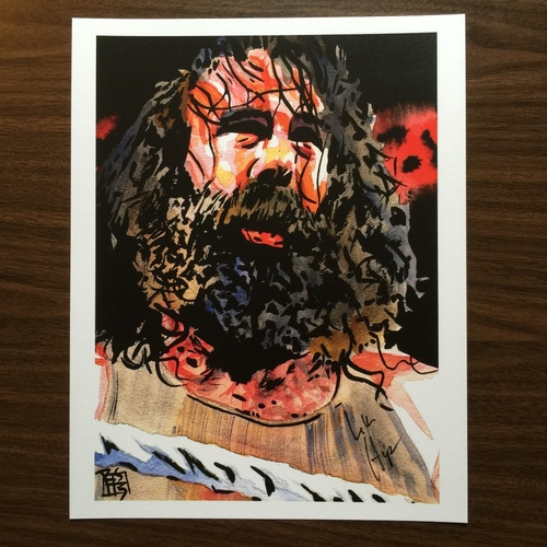 "Photo of Luke Harper SIGNED 11"" x 14"" Rob Schamberger Print"