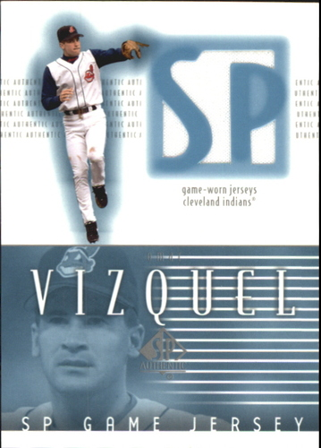 Photo of 2002 SP Authentic Game Jersey #JOV Omar Vizquel