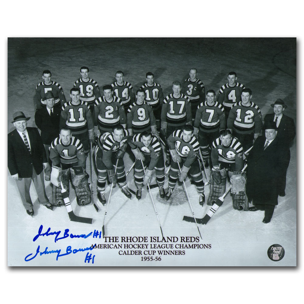 Johnny Bower Autographed Rhode Island Reds 8X10 Photo (Toronto Maple Leafs)