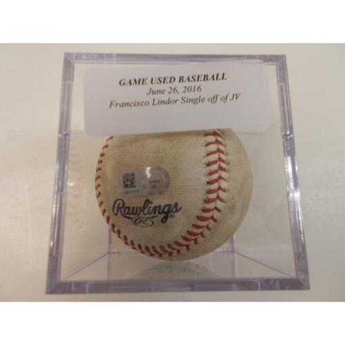 Photo of Game-Used Baseball: Francisco Lindor Single