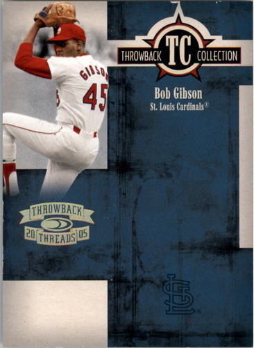 Photo of 2005 Throwback Threads Throwback Collection Spectrum #45 Bob Gibson