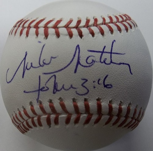 Photo of Mike Matheny Autographed Baseball