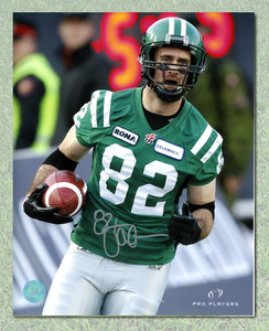 Jason Clermont Saskatchewan Roughriders Autographed 8x10 Photo