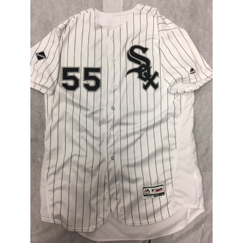 Photo of Carlos Rodon 2016 Team-Issued White Pinstripe Jersey - Size 50