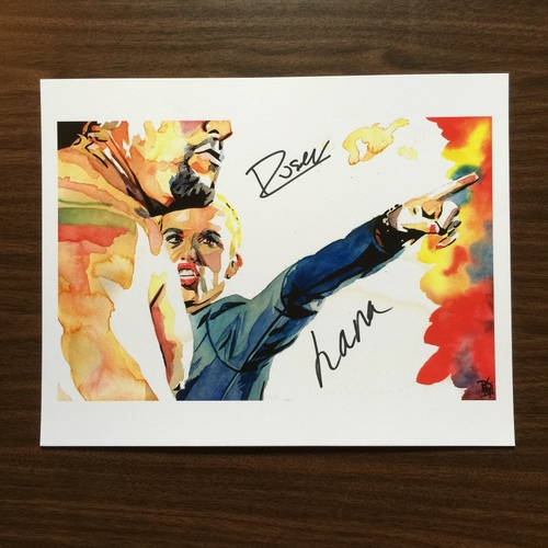 "Photo of Rusev & Lana SIGNED 11"" x 14"" Rob Schamberger Print"