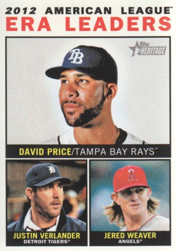 Photo of 2013 Topps Heritage #2 David Price/Justin Verlander/Jered Weaver