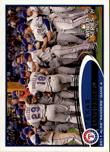 Photo of 2012 Topps #59 Texas Rangers PS HL