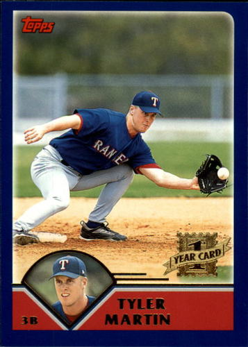 Photo of 2003 Topps Traded #T240 Tyler Martin FY RC