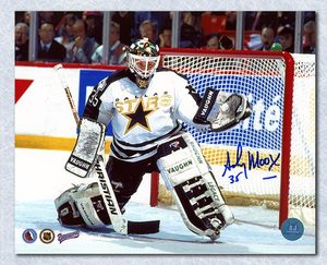 Andy Moog Dallas Stars Autographed Goalie 8x10 Photo