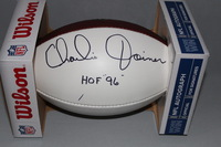 HOF - CHARGERS CHARLIE JOINER SIGNED PANEL BALL