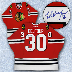 Ed Belfour Chicago Blackhawks Autographed Retro CCM Hockey Jersey